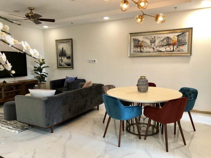 2PN Lm81-09.08 Landmark 81 Vinhomes Central Park cho thuê full nội thất