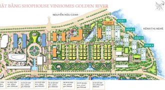 Mặt bằng shophouse Aqua 3 Vinhomes Golden River vị trí đẹp nhất